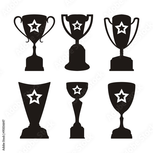 simple trophy vector template stock image and royalty free vector