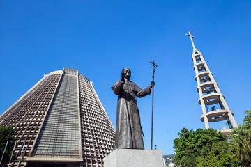 Metropolitan cathedral in Rio de Janeiro, Brazil