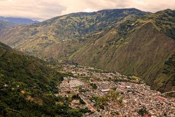 Banos De Agua Santa, Aerial Telephoto Shot