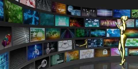 Images Forming a TV Monitor Concept