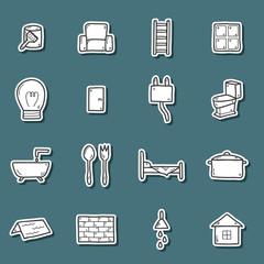 Home repair stickers