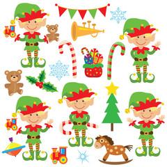 Christmas elf vector illustration