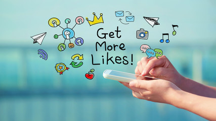 Get More Likes concept with smartphone