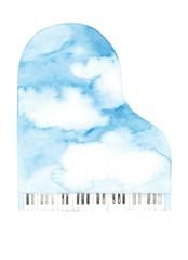 空色ピアノ、背景用
