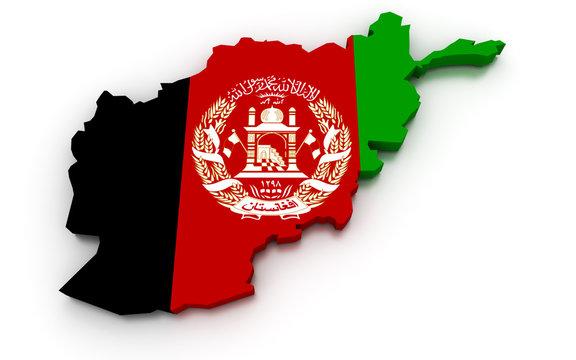 Afghanistan Flag Map
