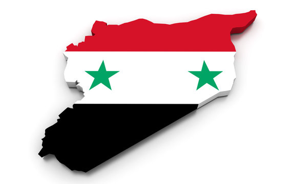 Syria Flag Map