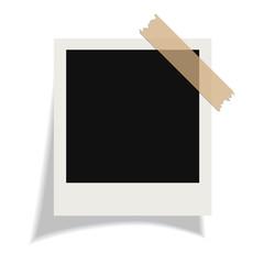 Blank polaroid photo card