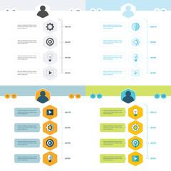 set of timeline design set