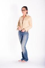 Fashion model catalog shoot