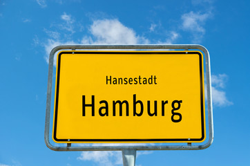 Ortstafel Hamburg