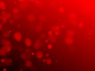 Red Blurred Round Sparkles Background