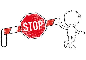 Short People Scribble - barrier