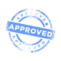 Approved Stamp Blue