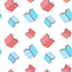 books pattern seamless