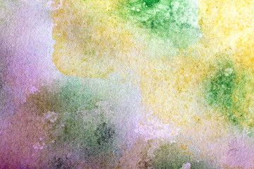 background of colorful watercolor paints