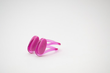 Universal nose clip with silicone pads