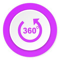 panorama violet pink circle 3d modern flat design icon on white background