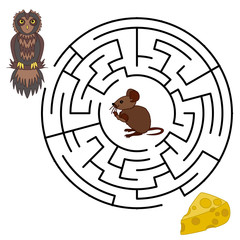 Vector Maze, Labyrinth education Game.