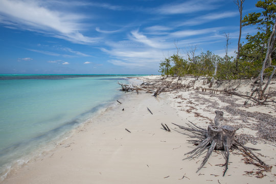 Cuba's beach of Cayo Levisa