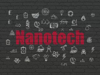 Science concept: Nanotech on wall background