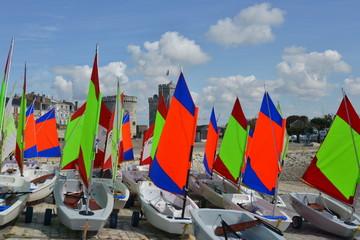 Segelschule im Hafen von la Rochelle
