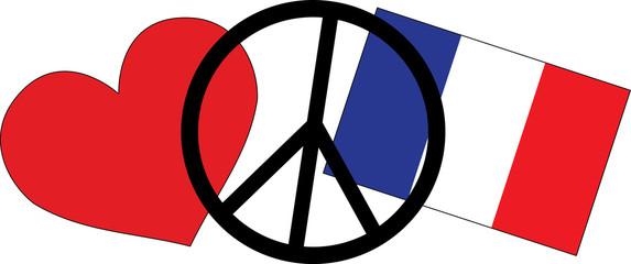 love peace freedom France Paris
