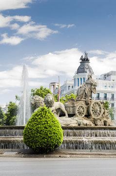 Fuente de Cibeles, Madrid. España.