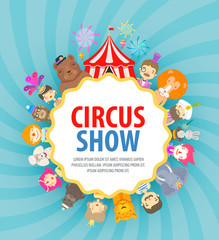 circus vector logo design template. festival or holiday icons