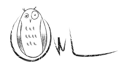 owl vector cartoon drawing