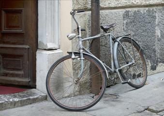 Alone bicycle in Ljubljana Slovenia