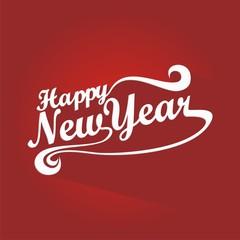 Happy New Year Greeting Card Design Illustration