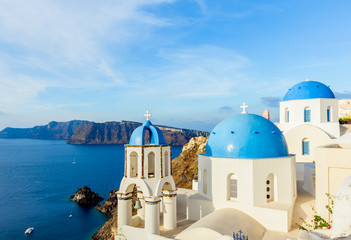 Spoed Foto op Canvas Santorini Beautiful Santorini, Mediterranean sea, Greece