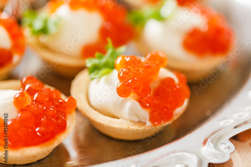 Canape with caviar arkivfoton och royaltyfria bilder p for Canape with caviar