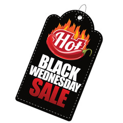 Hot Black Wednesday sale tag. EPS 10 Vector