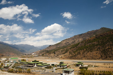 Paro Airport in the Mountains - Bhutan