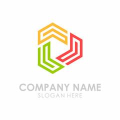Initial G Triangle Play Box Logo