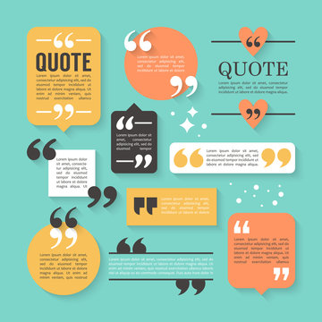 Modern block quote and pull quote design elements. Creative quot