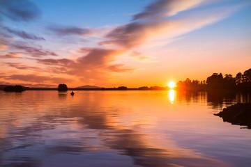 peaceful evening in northern Scandinavia