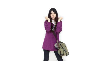 Asian girl in casual wear