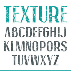 Sans serif narrow font with shabby texture