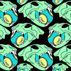 Skull animal  seamless pattern