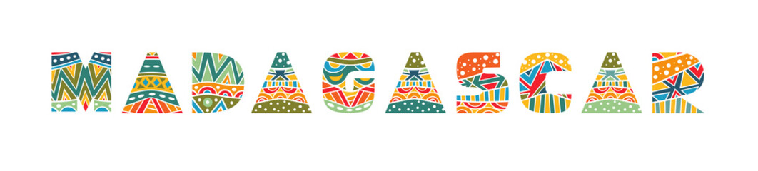 Madagascar Ornate Lettering