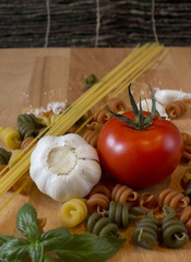 Ingredients for pasta dish