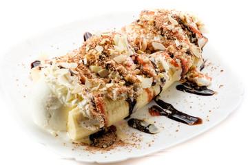 dessert on white