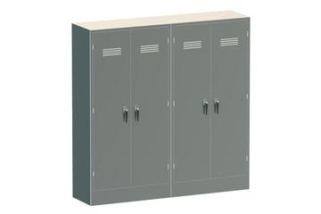 Grey metal lockers