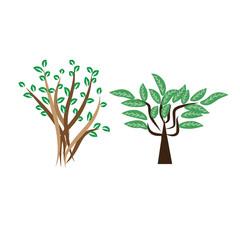 tree vector illustration design green nature leaf
