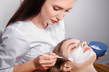 Cosmetic procedure at beauty salon