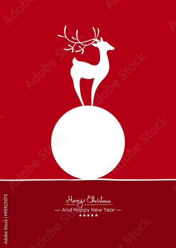 Rote Weihnachtskarten.Rote Vertikale Vektor Grußkarte Für Weihnachten Und Neujahr Merry