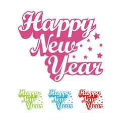 Happy New Year Design Icon