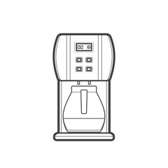 outline coffee machine illustration.